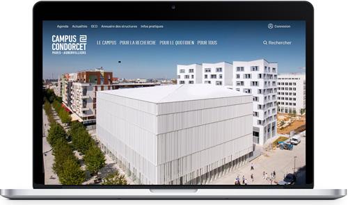 Site web campus condorcet - Kosmos solutioning