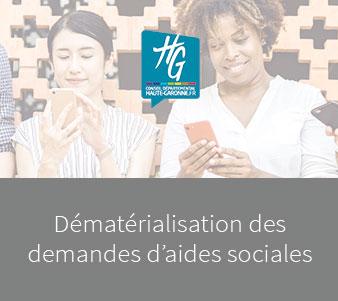 Dématérialisation des demandes d'aides sociales